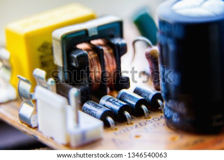 Electronic circuit board, diodes, used for wallpaper, used as illustrated book,closeup