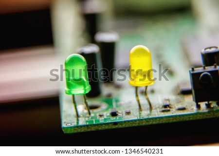 Electronic circuit board, LED, used for wallpaper, used as illustrated book,closeup