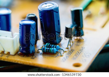Electronic circuit board, Resistor, used for wallpaper, used as illustrated book,closeup