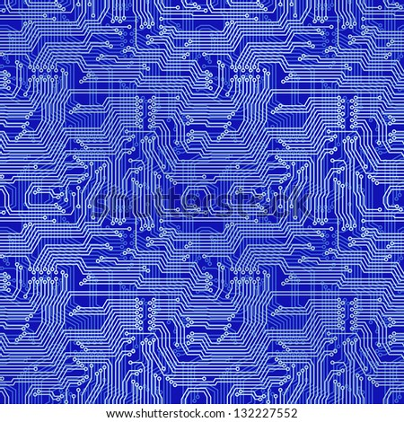 Electronic circuit board. Tileable seamless repeating background