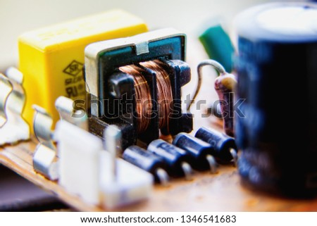 Electronic circuit board,Transformer, used for wallpaper, used as illustrated book,closeup