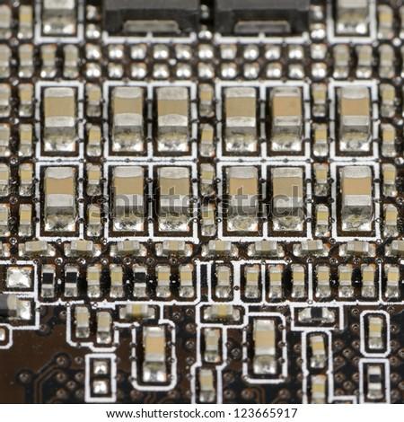 Electronic Circuit Macro - stock photo