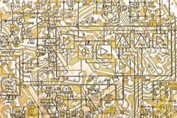 Electronic circuit plate background. Texture