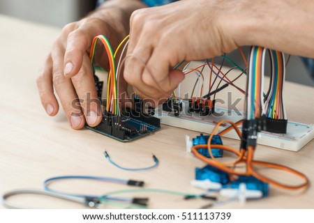 electronic component connected...