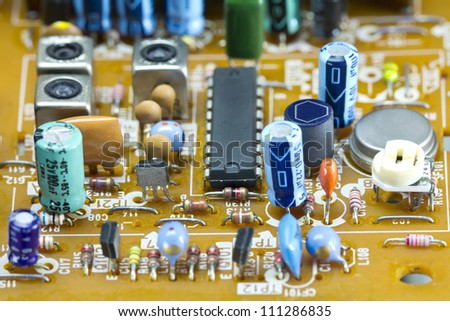 Electronic components on circuit