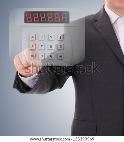electronic control and coding - stock photo