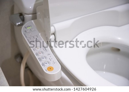 electronic control panel of toilet sanitary ware with automatic flush system, japan toilet bowl.