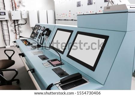 electronic control panel, ship engine control panel #1554730406