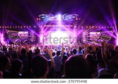 Electronic Dance Music Festival Foto stock ©