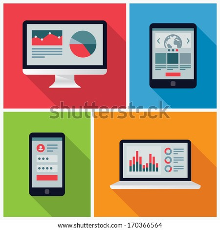 Electronic Device Flat Icons