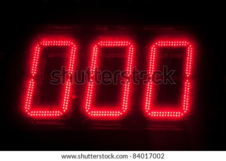 Electronic digital numbers