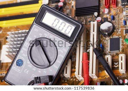 Electronic equipment, multimeter, microcircuit