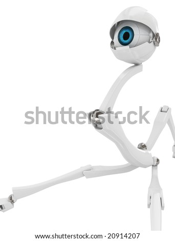 Electronic Eye Robot, 3d, isolated