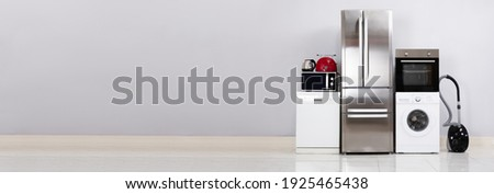 Electronic Household Device Appliances Set. House Equipment