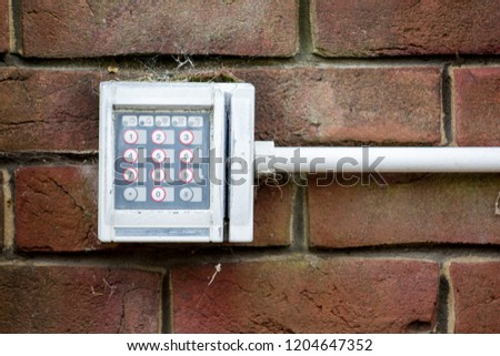 Electronic keypad for security entry system #1204647352