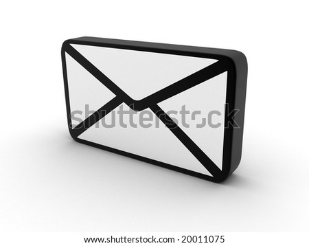 electronic letter on a white background