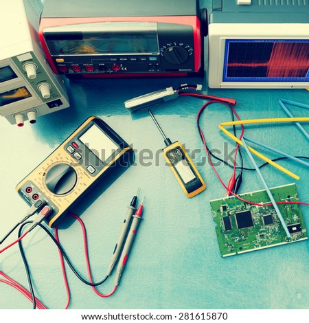 electronic measuring instruments, toned photo #281615870