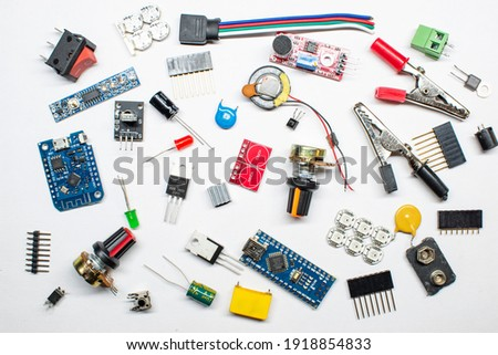 electronic parts, components and microprocessors Сток-фото ©