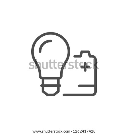 Electronic products line icon isolated on white