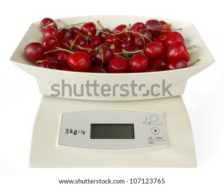 Electronic Scales with Cherries