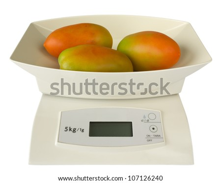 Electronic Scales with Tomatoes