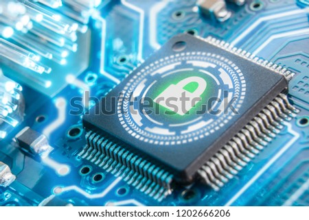 electronic security concept. Data security. VPN