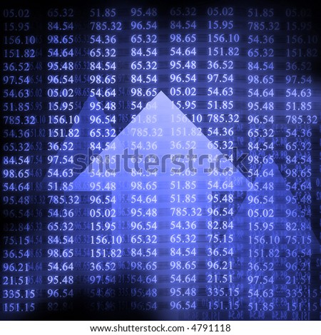 Electronic stock numbers and arrow