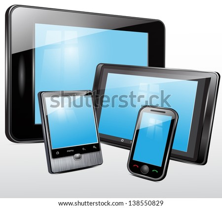 Electronic technics, tablet, mobile phone.