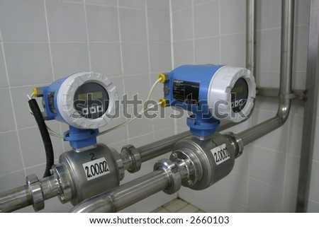 electronic temperature control valves in dairy production factory