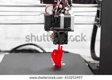 Electronic three dimensional plastic printer, 3D printer, 3D printing #653252497