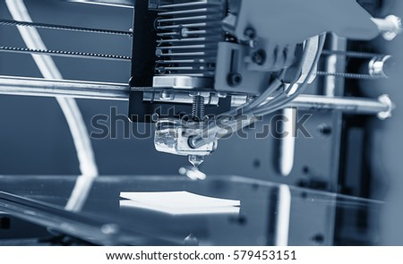 Electronic three dimensional plastic printer during work , 3D printer, 3D printing