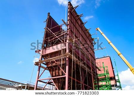 Electrostatic Precipitator during construction #771823303