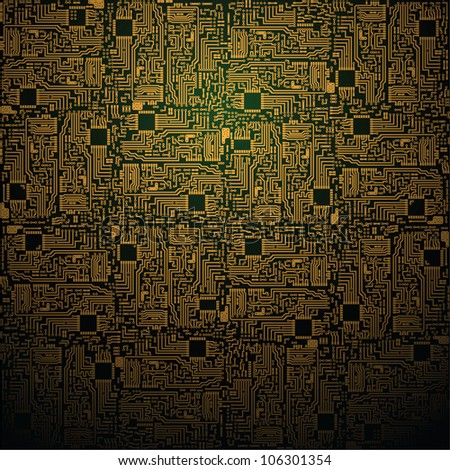 Electrotechnical square pattern - industrial background