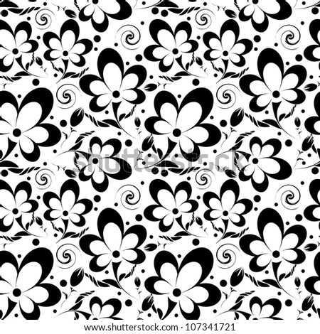 Elegance Seamless pattern with flowers in vintage style