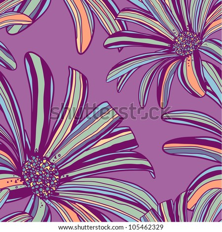 Elegance seamless pattern with tropical flowers.