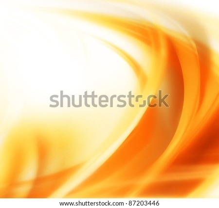 elegant abstract autumn background with smooth lines - stock photo