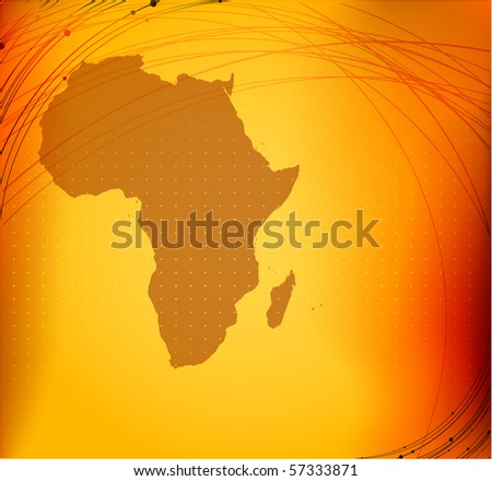elegant abstract background with Africa map silhouette | for vector version see my gallery