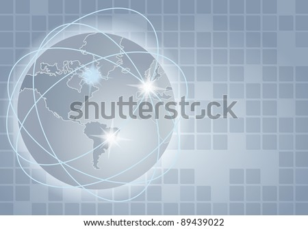 Elegant abstract business background - global communication concept