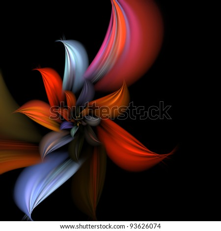 Stock photo elegant abstract fractal background on the black for art