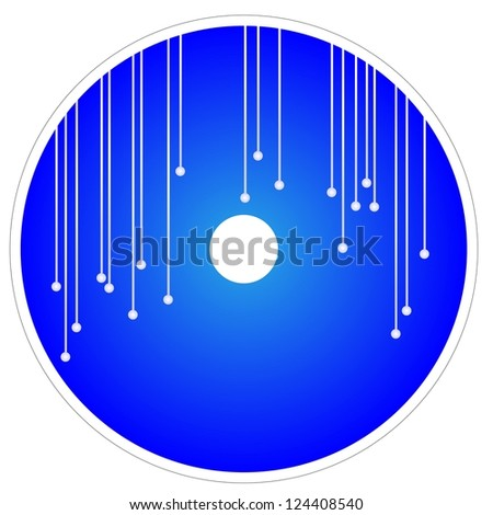 Elegant Abstract Template of CD and DVD Cover in Blue Color Background - stock photo
