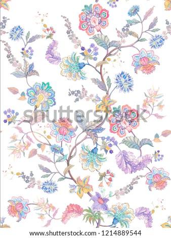 Elegant American floral design in various colors,Orange watercolor flowers,