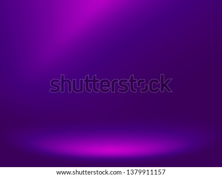 Elegant and beautiful studio background. Blue and purple background.