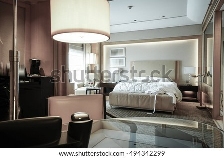 Elegant and comfortable living room interior. #494342299