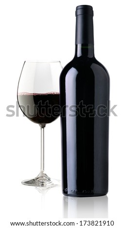 elegant and expensive red glass wine for mounting graphic design