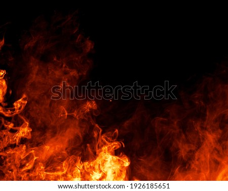 Elegant and luxurious background textures - Fire flames Foto stock ©