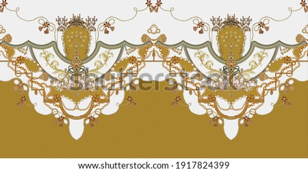 elegant and luxurious decoration in rococo style design vintage elements in baroque textile shirt designs Сток-фото ©