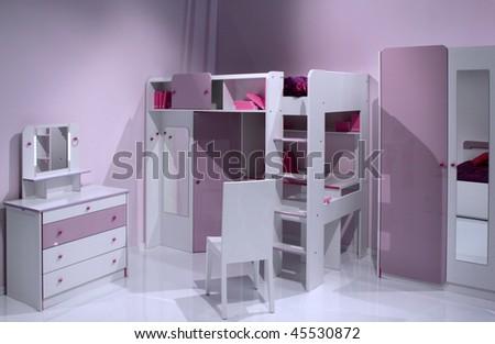 Elegant and luxury child room interior design. - stock photo