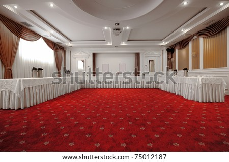 Elegant and rich designed banquet hall. Great file for your new catering, weddings, conferences hotel and other business service.