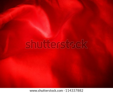 Elegant and soft red satin background or christmas background