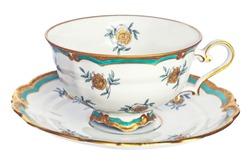 Elegant antique tea cup and saucer.